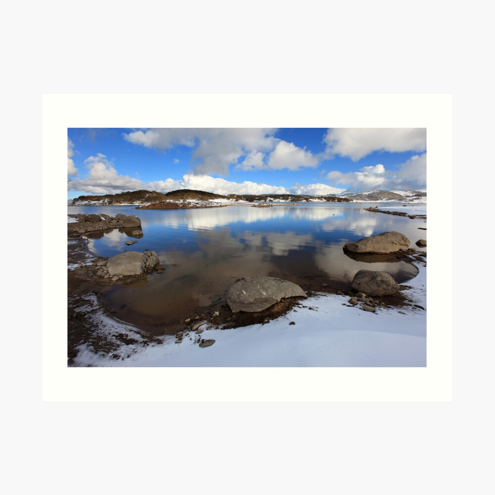 Rocky Valley Pondage, Falls Creek, Australia Art Print