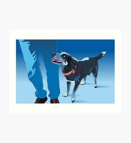blue heeler Art Print