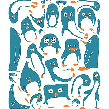 Petrol Colored Penguin Party by MaijaR