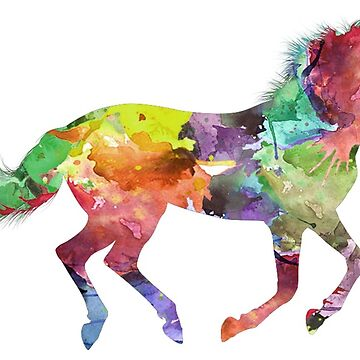 Multicolored horse painting by Ines50