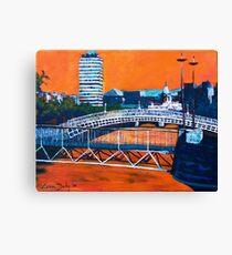 Liffey Bridges, Dublin Canvas Print