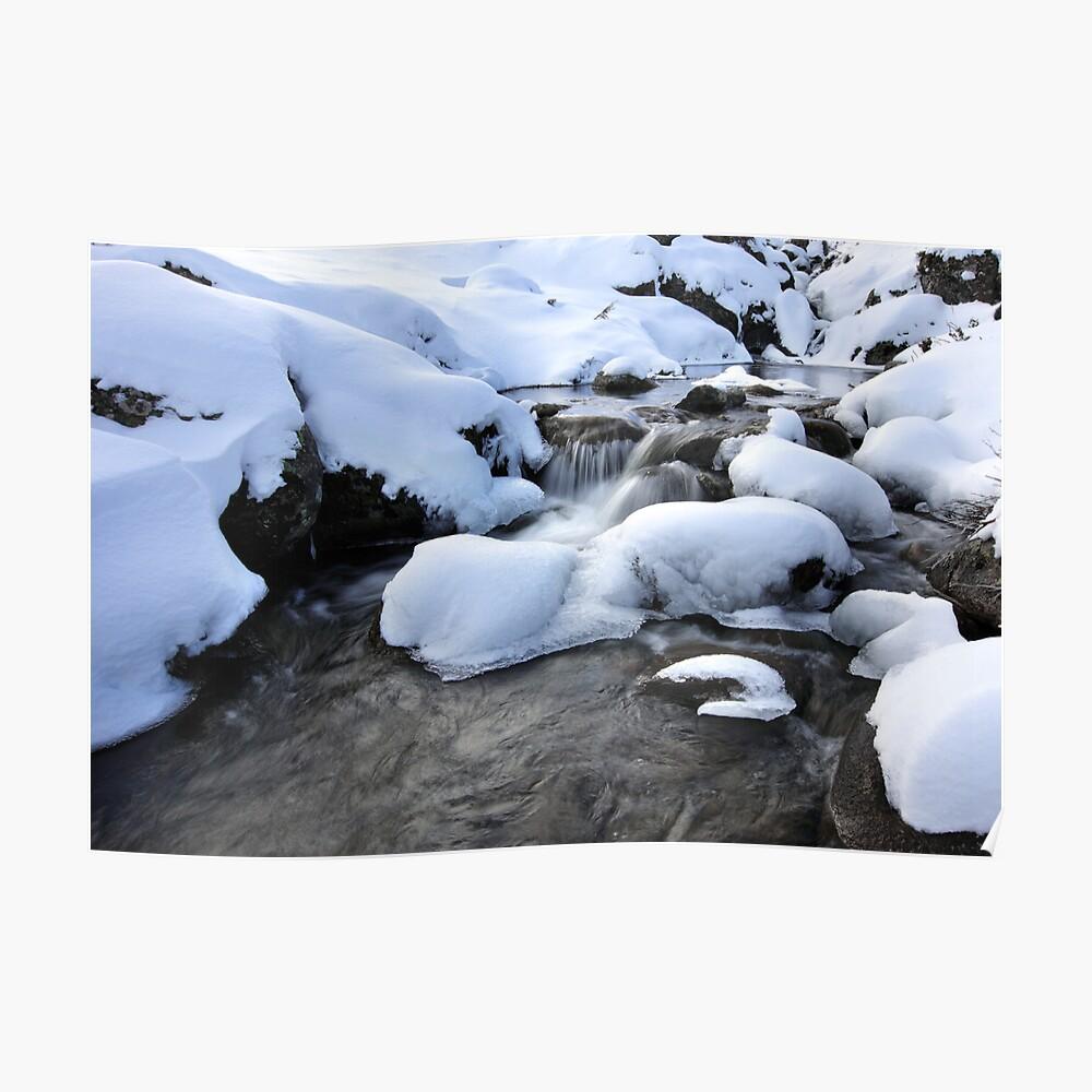 Cold Waters, Falls Creek, Australia Poster