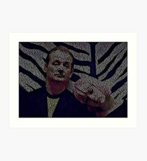 Text Portrait of Bill Murray with Full Script of Lost in Translation Art Print