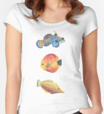 Water Colors Fitted Scoop T-Shirt