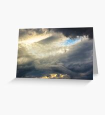 Angry clouds.. Greeting Card