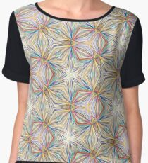abstract prismatic art seamless colorful repeat pattern Chiffon Top