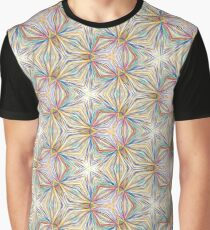 abstract prismatic art seamless colorful repeat pattern Graphic T-Shirt