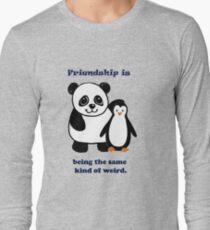 Frienship, Penguin and Panda Long Sleeve T-Shirt