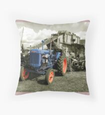 Fordson & the Threshing Machine Throw Pillow