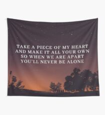 Never Be Alone Lyrics (Pt. 2) - Shawn Mendes Wall Tapestry