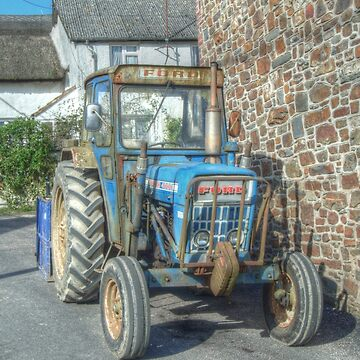 Old Ford tractor in Bishops Nympton by hawkie