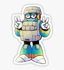 Block Man Sticker