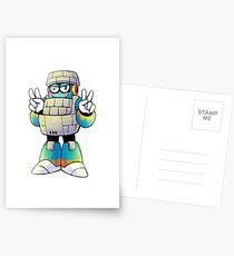 Block Man Postcards