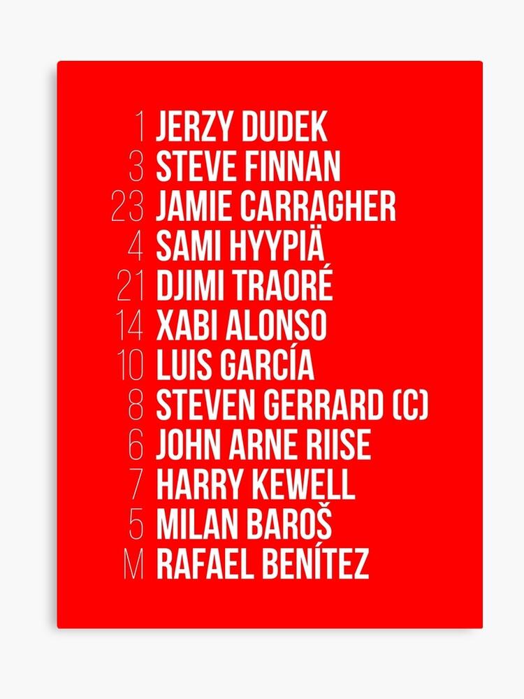 c63492cfc Liverpool 3-3 Milan - Istanbul - LFC - T-Shirt - UCL Final ...