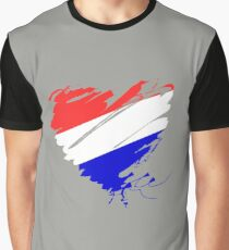 Netherlands Holland Amsterdam Heart Europe Soccer Graphic T-Shirt