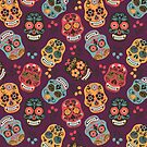 Colorful Sugar Skull Pattern by Twosided
