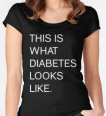 This is what diabetes looks like  - DIABETES AWARENESS Women's Fitted Scoop T-Shirt