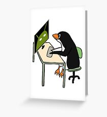 Tux programming Android Greeting Card