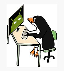 Tux programming Android Photographic Print