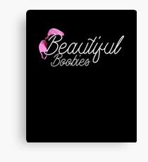 Beautiful Boobies Breast Cancer Awareness Wife T Shirt Canvas Print