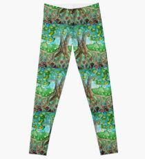 Celtic Tree Of Life Painting Mixed Media Leggings Redbubble
