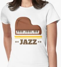 Jazz music 002 Women's Fitted T-Shirt