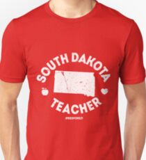 Red For Ed South Dakota Teacher Support Unisex T-Shirt