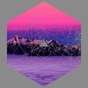 Nature and Geometry - Mountains and Constellations by ddtk