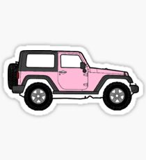 Rosa Jeep Sticker