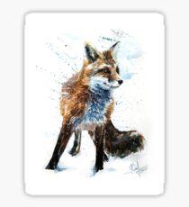 Fox, animals, watercolor, wild, illustration, wildlife, kostart Sticker