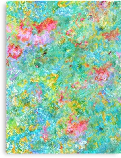 Tropical Waters Abstract #sabidussi #redbubble #decor #artprints by Menega  Sabidussi