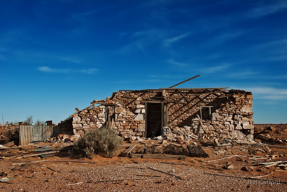 Sleepers and Ruin - Farina - South Australia by Jeff Catford