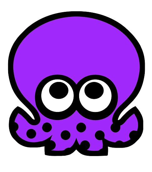 octoling octopus purple posters by inkopolis plaza redbubble