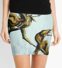 Horn Lake: My Baby Calf (Large Scale Acrylic) Mini Skirt