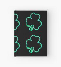 Neon Irish Shamrock Hardcover Journal
