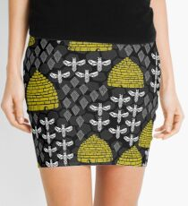 Bees and Hives by Andrea Lauren Mini Skirt