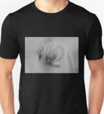 Orchid Macro in Black and White Unisex T-Shirt