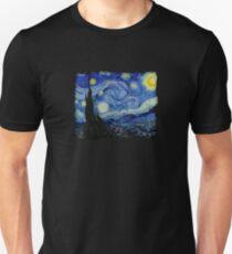 The Starry Night Vincent van Gogh painting artist art lover gift t shirt Unisex T-Shirt