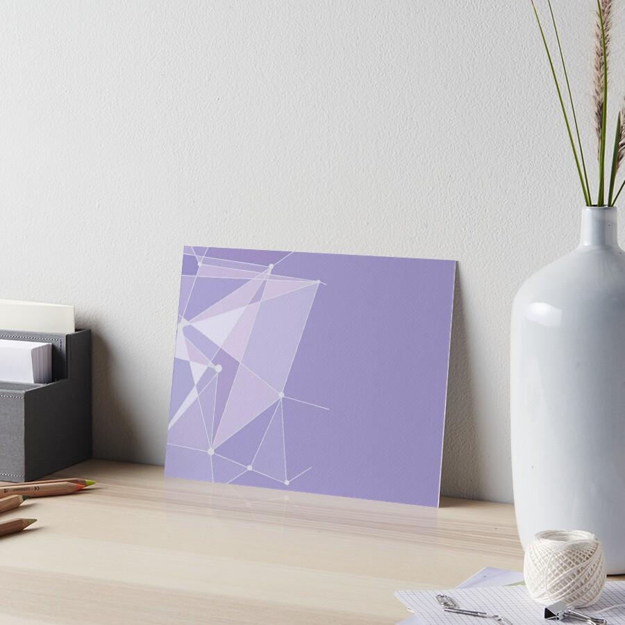 Geometrische lila Wand Galeriedruck