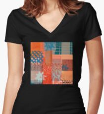 The Flicker of Ancient Smiles Women's Fitted V-Neck T-Shirt