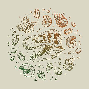Geo-rex Vortex | Leaf Green & Pumpkin Spice Ombré by OMEGAFAUNA