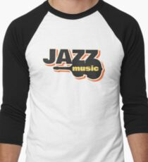 Jazz music 010 Men's Baseball ¾ T-Shirt