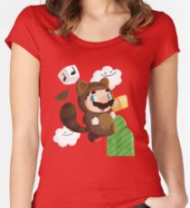 Tanooki  Women's Fitted Scoop T-Shirt