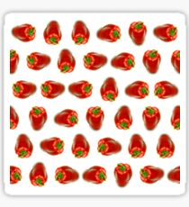 Red peppers pattern Sticker