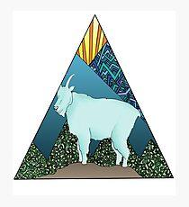 Mountain Goat Geometric Triangle Landscape  Photographic Print