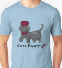 Cute Cat Fuzz Puppet ['Doctor Who Matt Smith' Style] Unisex T-Shirt
