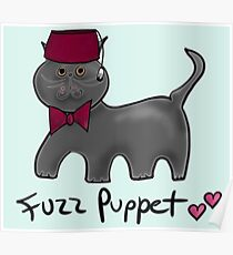 Cute Cat Fuzz Puppet ['Doctor Who Matt Smith' Style] Poster