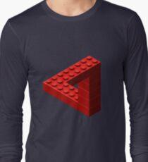 Escher Toy Bricks - Red Long Sleeve T-Shirt