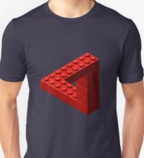 Escher Toy Bricks - Rot Unisex T-Shirt