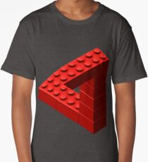 Escher Toy Bricks - Red Long T-Shirt